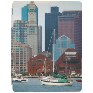 USA, Massachusetts. Boston Waterfront Skyline iPad Cover