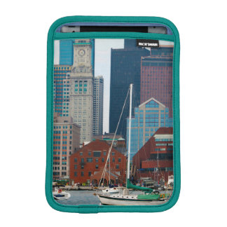 USA, Massachusetts. Boston Waterfront Skyline iPad Mini Sleeve