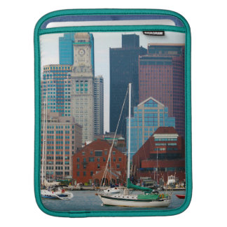 USA, Massachusetts. Boston Waterfront Skyline iPad Sleeve