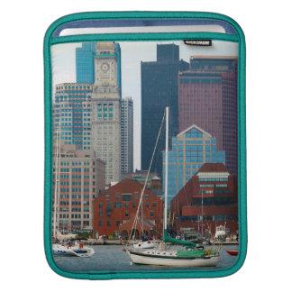 USA, Massachusetts. Boston Waterfront Skyline iPad Sleeves