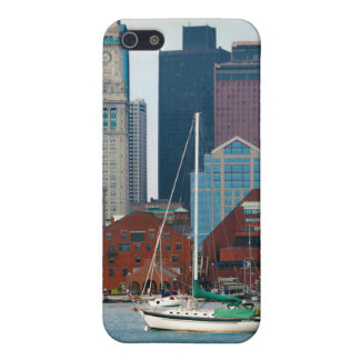 USA, Massachusetts. Boston Waterfront Skyline iPhone 5 Covers