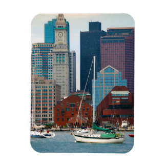 USA, Massachusetts. Boston Waterfront Skyline Magnet