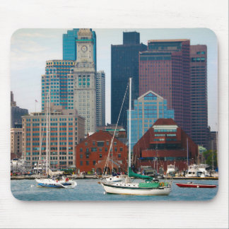 USA, Massachusetts. Boston Waterfront Skyline Mouse Mat
