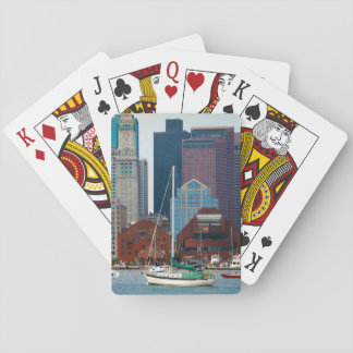 USA, Massachusetts. Boston Waterfront Skyline Playing Cards