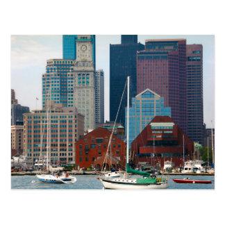 USA, Massachusetts. Boston Waterfront Skyline Postcard