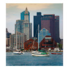 USA, Massachusetts. Boston Waterfront Skyline Poster