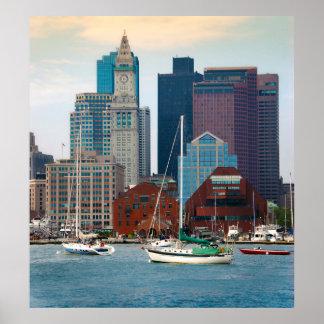 USA, Massachusetts. Boston Waterfront Skyline Poster