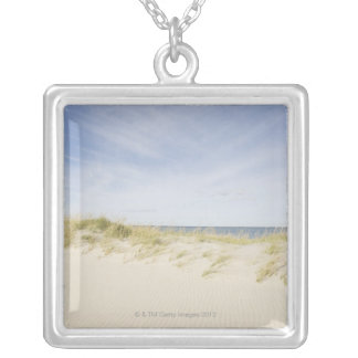 USA, Massachusetts, Cape Cod, Nantucket, sandy Silver Plated Necklace