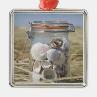USA, Massachusetts, close up of shells in jar Christmas Ornament