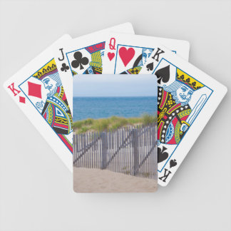 USA, Massachusetts. Dunes And Path Bicycle Playing Cards