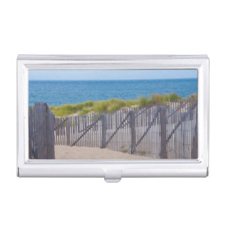 USA, Massachusetts. Dunes And Path Business Card Case