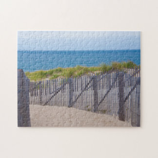 USA, Massachusetts. Dunes And Path Jigsaw Puzzle
