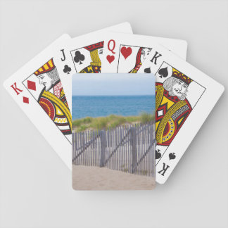USA, Massachusetts. Dunes And Path Playing Cards