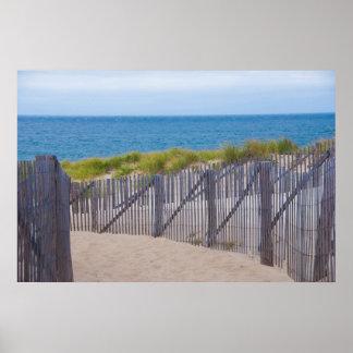 USA, Massachusetts. Dunes And Path Poster