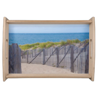 USA, Massachusetts. Dunes And Path Serving Tray