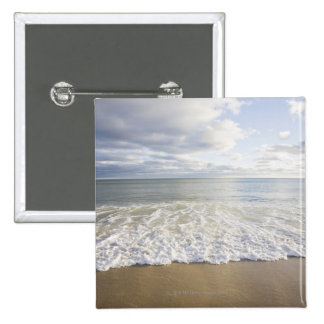 USA, Massachusetts, Empty beach 15 Cm Square Badge