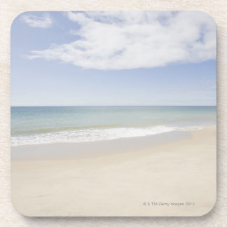 USA, Massachusetts, Empty beach 2 Beverage Coasters