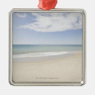 USA, Massachusetts, Empty beach 2 Christmas Ornament