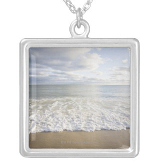 USA, Massachusetts, Empty beach Silver Plated Necklace
