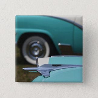 USA, Massachusetts, Gloucester. 1950s-era Ford 15 Cm Square Badge