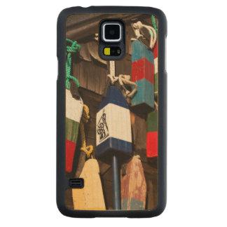 USA, Massachusetts, Gloucester, Lobster Buoys 2 Maple Galaxy S5 Slim Case
