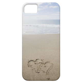 USA, Massachusetts, Hearts drawn on sandy beach 2 iPhone 5 Case