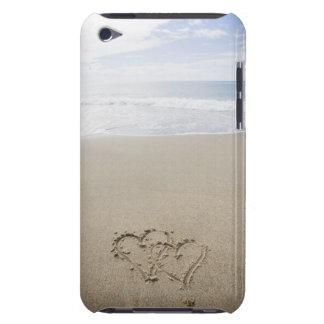 USA, Massachusetts, Hearts drawn on sandy beach 2 iPod Touch Case-Mate Case