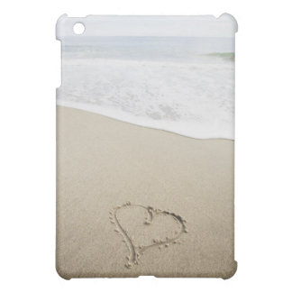 USA, Massachusetts, Hearts drawn on sandy beach Case For The iPad Mini