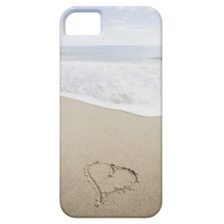 USA, Massachusetts, Hearts drawn on sandy beach Case For The iPhone 5