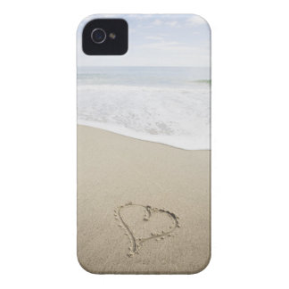 USA, Massachusetts, Hearts drawn on sandy beach Case-Mate iPhone 4 Cases