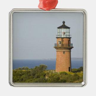 USA, MASSACHUSETTS, Martha's Vineyard: Aquinnah Silver-Colored Square Decoration