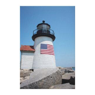 USA, Massachusetts, Nantucket. Brant Point Canvas Print
