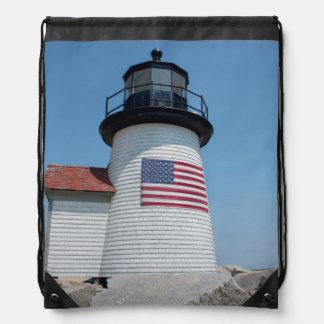USA, Massachusetts, Nantucket. Brant Point Drawstring Bag