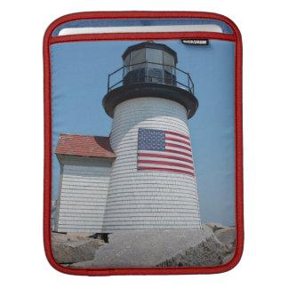 USA, Massachusetts, Nantucket. Brant Point iPad Sleeve