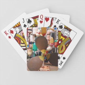 USA, Massachusetts. Propeller And Floats Playing Cards