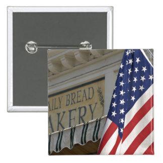 USA; Massachusetts; Stockbridge; Daily Bread 15 Cm Square Badge