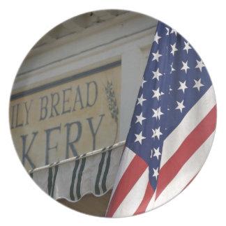 USA; Massachusetts; Stockbridge; Daily Bread Party Plate