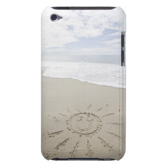USA, Massachusetts, Sun drawn on sandy beach Case-Mate iPod Touch Case