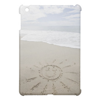 USA, Massachusetts, Sun drawn on sandy beach iPad Mini Case