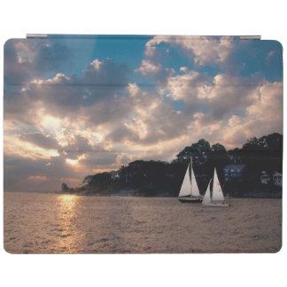 USA, Massachusetts. Sunset Sailing iPad Cover