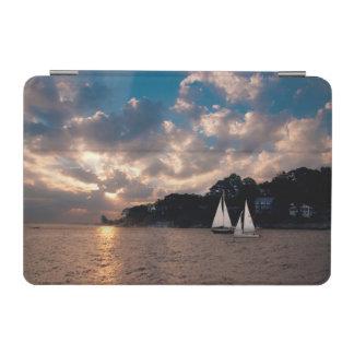 USA, Massachusetts. Sunset Sailing iPad Mini Cover