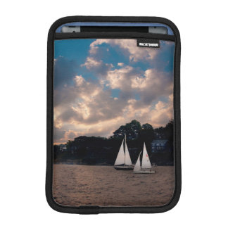 USA, Massachusetts. Sunset Sailing iPad Mini Sleeve