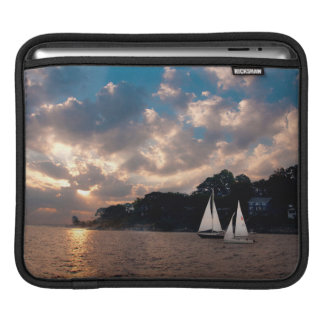 USA, Massachusetts. Sunset Sailing iPad Sleeve
