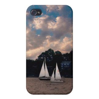 USA, Massachusetts. Sunset Sailing iPhone 4 Case
