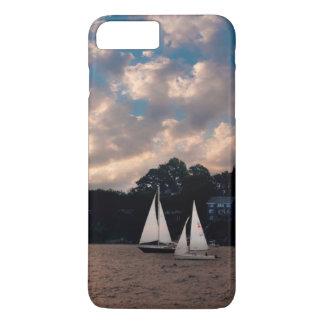 USA, Massachusetts. Sunset Sailing iPhone 7 Plus Case