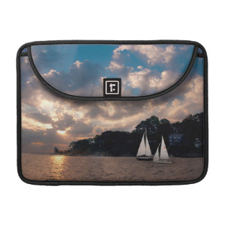 USA, Massachusetts. Sunset Sailing Sleeve For MacBooks