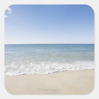 USA, Massachusetts, Waves at sandy beach 2 Square Sticker