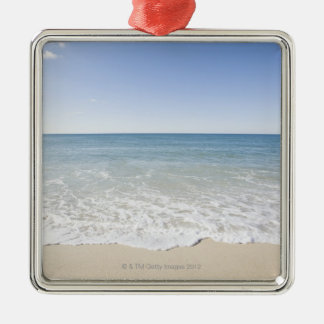 USA, Massachusetts, Waves at sandy beach Christmas Ornament