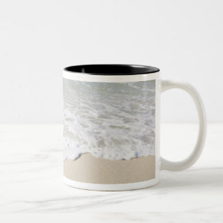 USA, Massachusetts, Waves at sandy beach Two-Tone Coffee Mug
