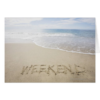 USA, Massachusetts, Word ''weekend'' drawn on Card